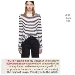 ALEXANDER WANG Striped Thin Long-Sleeve T-SHIRT